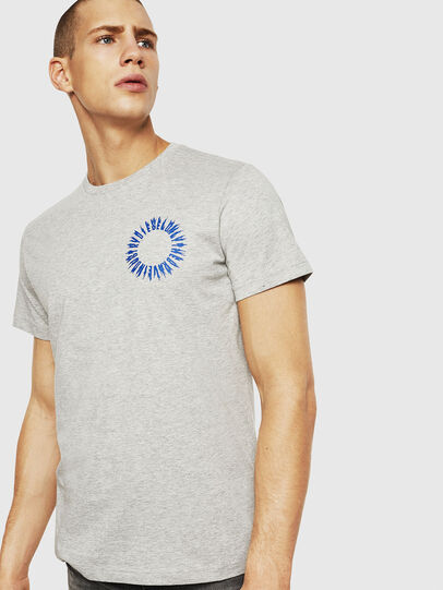 Diesel - T-DIEGO-A12, Light Grey - T-Shirts - Image 1
