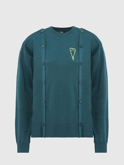 Diesel - M-MIRANDA, Water Green - Knitwear - Image 1