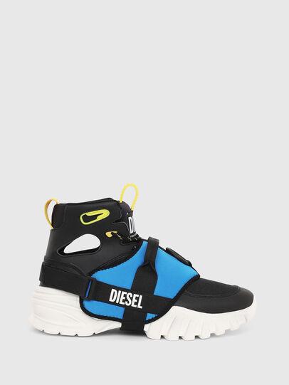 Diesel - S-SHARQUEZ MID, Black - Sneakers - Image 1