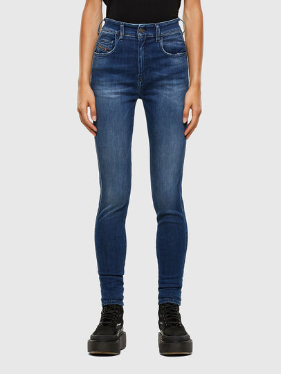 Diesel - Slandy High 009FE, Dark Blue - Jeans - Image 1