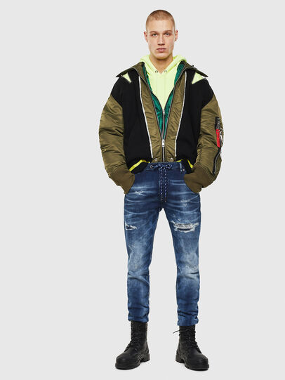 Diesel - Krooley JoggJeans 0097N, Dark Blue - Jeans - Image 5