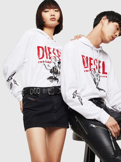 Diesel - CL-T-JUST-LS-HOOD, White - T-Shirts - Image 5