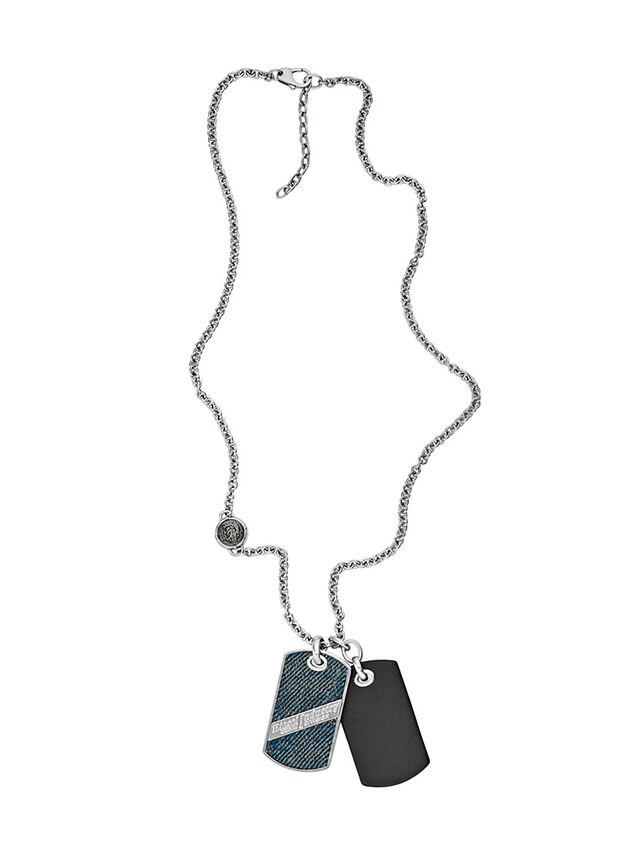 Diesel NECKLACE DX1031, Blue Jeans - Necklaces - Image 1
