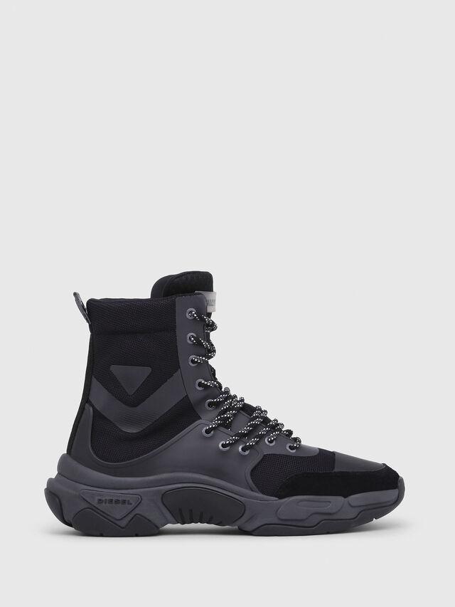 Diesel - S-KIPPER MID LACE, Black - Sneakers - Image 1