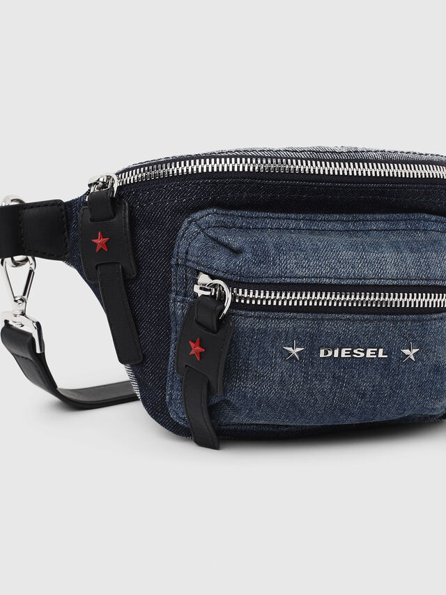 Diesel - F-DESTAR BELTBAG, Blue Jeans - Belt bags - Image 4