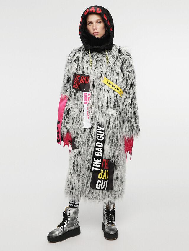 Diesel - HC-L-MIL, White/Black - Winter Jackets - Image 5