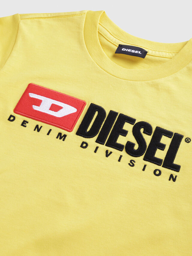 Diesel - TJUSTDIVISION, Yellow - T-shirts and Tops - Image 3