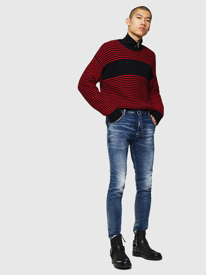 Diesel - Krooley JoggJeans 0096M, Dark Blue - Jeans - Image 5