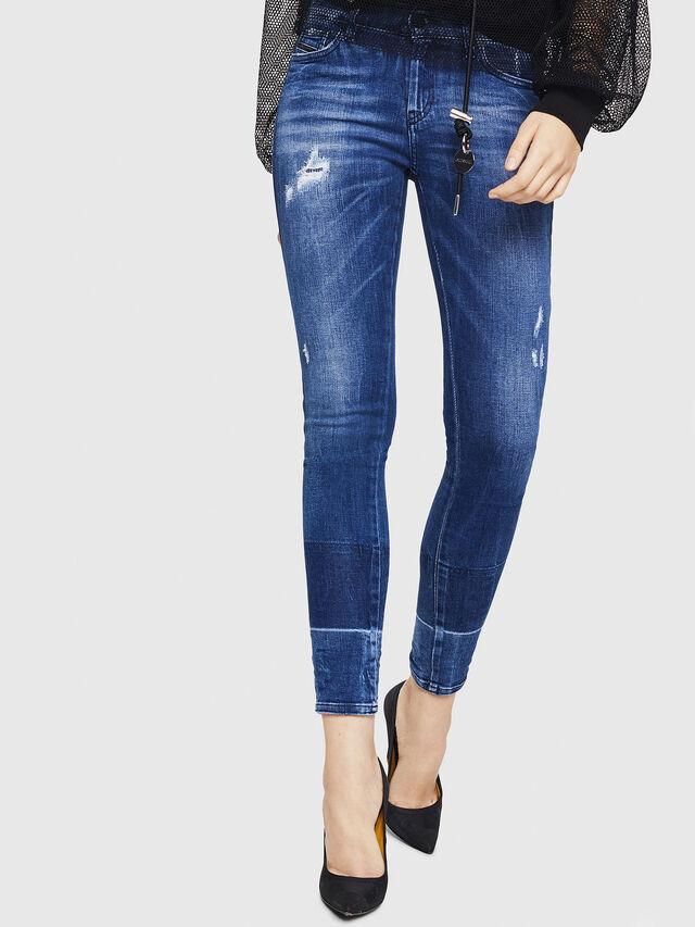Diesel - Slandy 0090K, Dark Blue - Jeans - Image 1