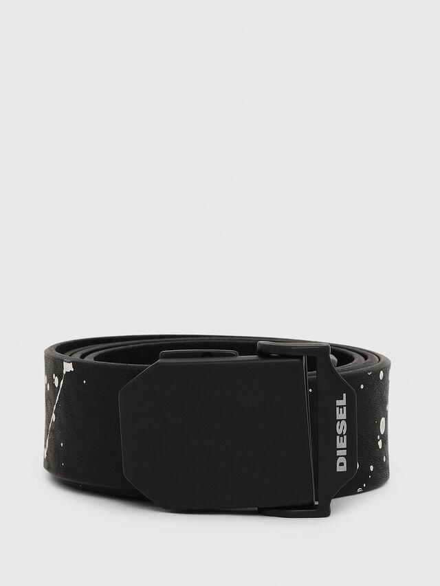 Diesel - B-POL, Black/White - Belts - Image 1