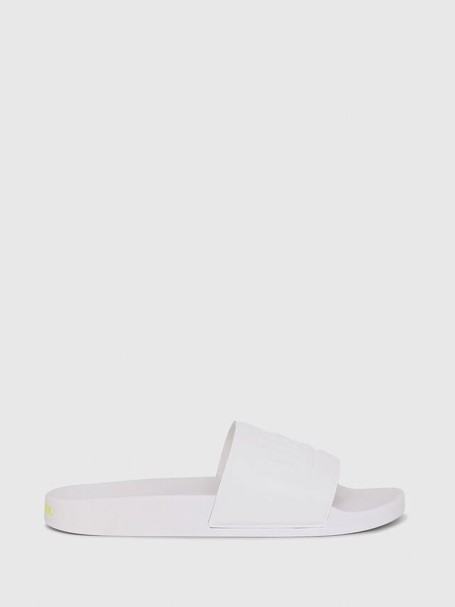 Diesel - SA-VALLA, White - Slippers - Image 1