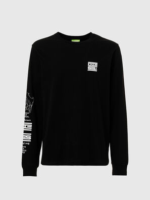 T-JUST-LS-N61, Black - T-Shirts