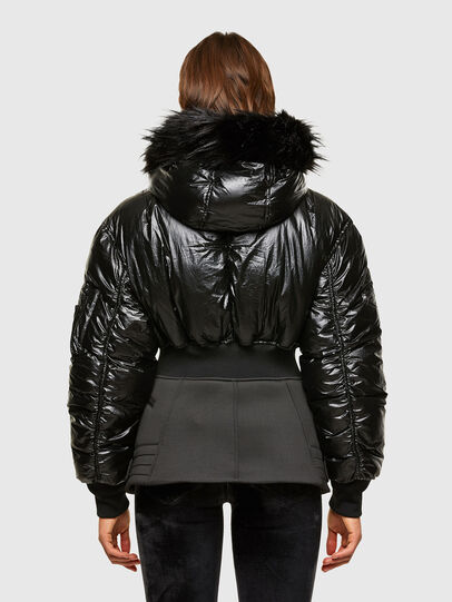 Diesel - W-ISOKE-SHINY, Black - Winter Jackets - Image 2