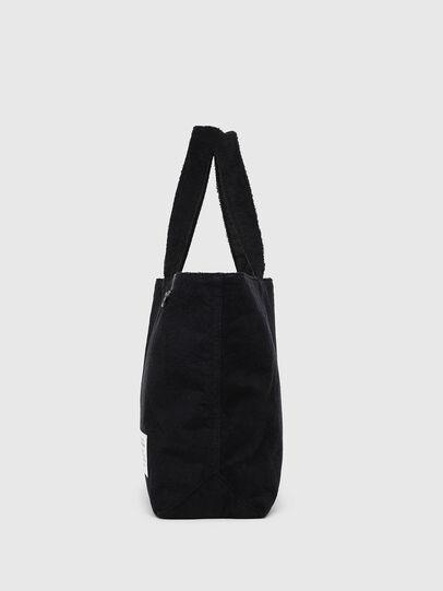 Diesel - D-THISBAG SHOPPER L, Black - Shopping and Shoulder Bags - Image 3