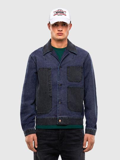 Diesel - D-ROKU JOGGJEANS, Dark Blue - Denim Jackets - Image 1