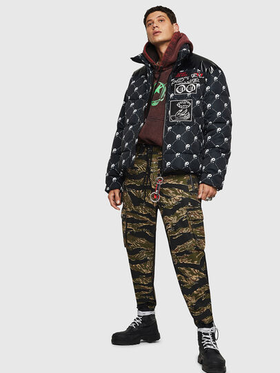 Diesel - W-PIATIG-PEACE, Black - Winter Jackets - Image 8