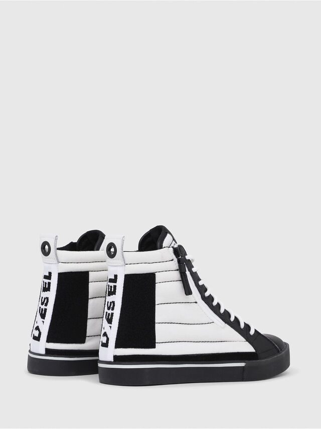 Diesel - D-VELOWS MID PATCH, White/Black - Sneakers - Image 3