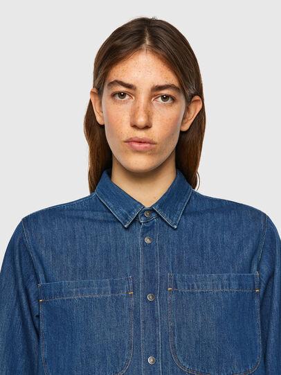 Diesel - DE-BEA-SP, Blue - Denim Shirts - Image 4