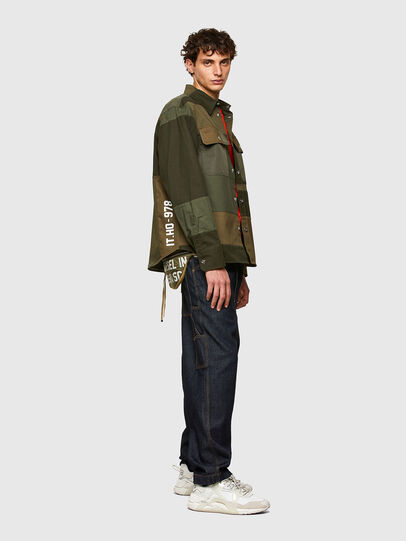 Diesel - S-HORUS, Olive Green - Shirts - Image 5