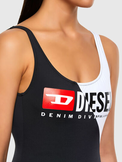 Diesel - BFSW-FLAMMYCUT, Black/White - Swimsuits - Image 3