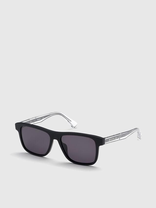 Diesel - DL0279, Black/White - Sunglasses - Image 2
