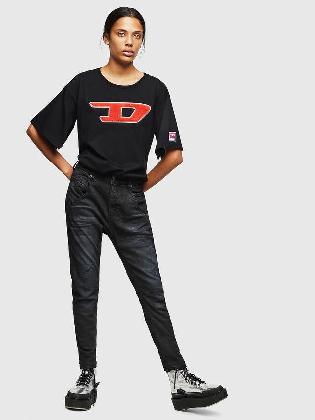Diesel - Fayza JoggJeans 069GP, Black/Dark grey - Jeans - Image 5