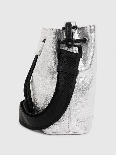 Diesel - BUCKETTINO, Silver - Crossbody Bags - Image 5