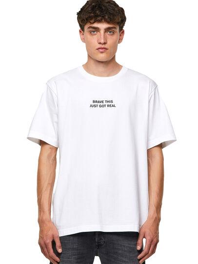 Diesel - T-TUBOLAR-B3, White - T-Shirts - Image 1