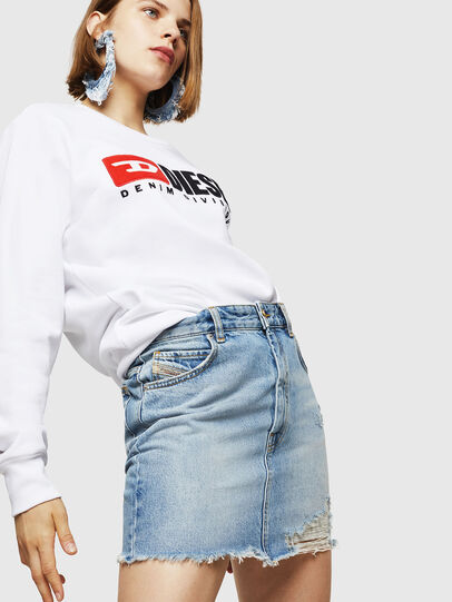 Diesel - F-GIR-DIVISION-FL, White - Sweaters - Image 4