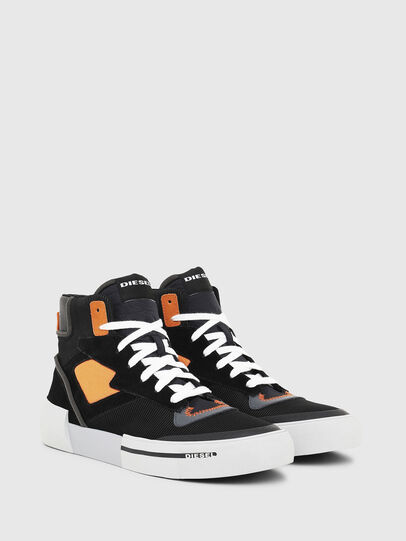 Diesel - S-DESE MS, Black/Orange - Sneakers - Image 2