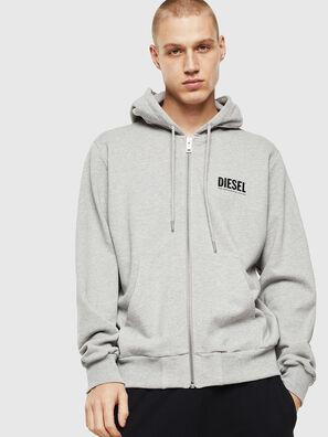 S-GIRK-HOOD-ZIP-LOGO, Grey - Sweaters