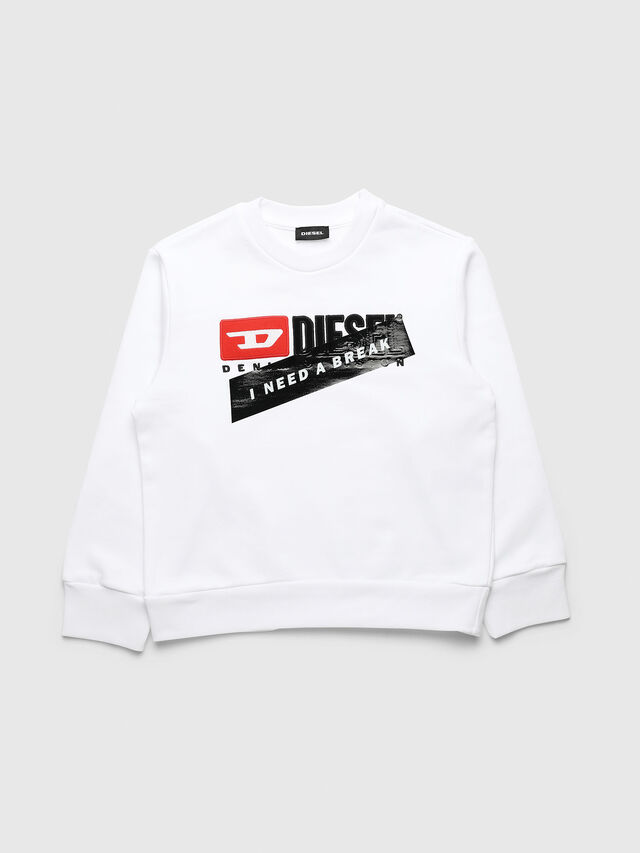 Diesel - UN-K-SCREWDIVISION-A, White - Sweaters - Image 1