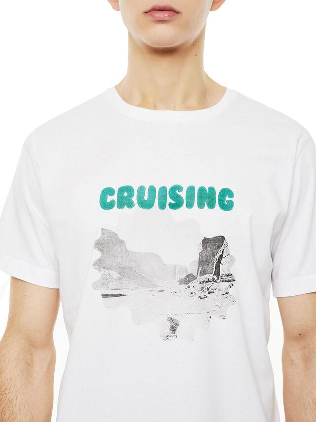 Diesel - TY-CRUISING, White - T-Shirts - Image 3