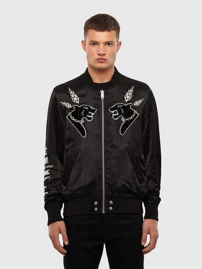 Diesel - J-SMOAK-EMBRO, Black - Jackets - Image 1