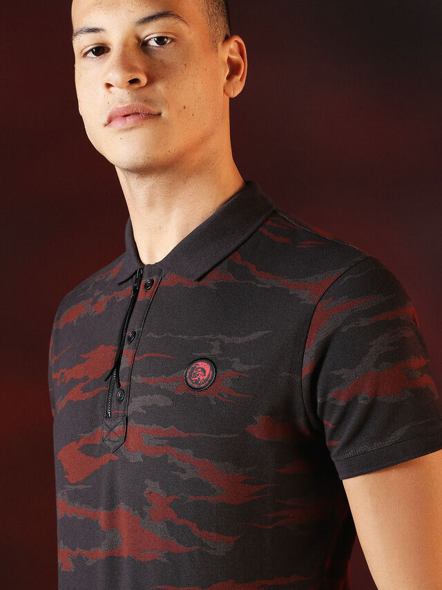 Diesel - DVL-POLO-SPECIAL COLLECTION, Red/Black - Polos - Image 6