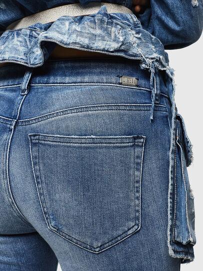 Diesel - Slandy Zip 083AP, Medium blue - Jeans - Image 3