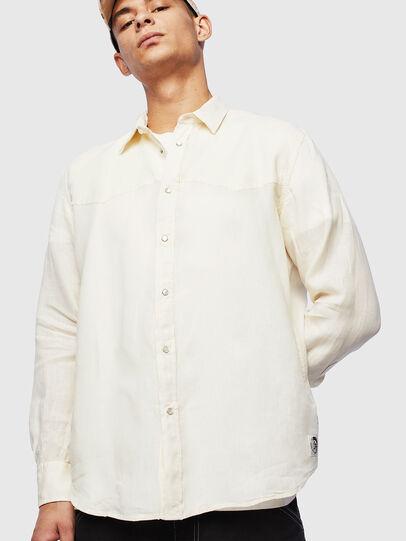 Diesel - S-PLAN-B, White - Shirts - Image 1