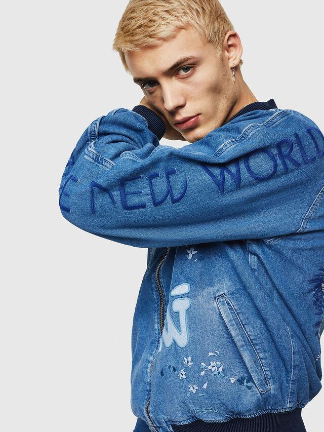 Diesel - D-BAK, Blue Jeans - Denim Jackets - Image 3