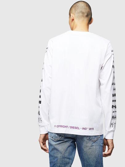 Diesel - T-JUST-LS-B2, White - T-Shirts - Image 2