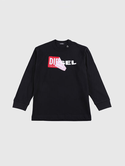 Diesel - TEDRI OVER, Black/Red - T-shirts and Tops - Image 1