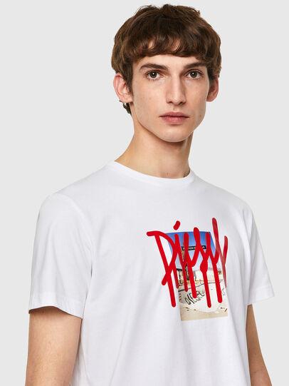Diesel - T-DIEGOS-B9, White - T-Shirts - Image 3