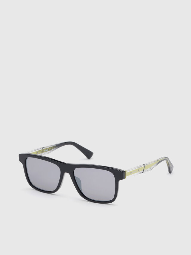 Diesel - DL0279, Black/Yellow - Sunglasses - Image 2