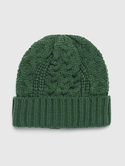 Diesel - K-KONEX, Dark Green - Knit caps - Image 1