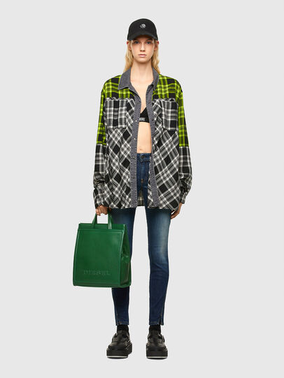 Diesel - AMETISTA, Green - Shopping and Shoulder Bags - Image 7