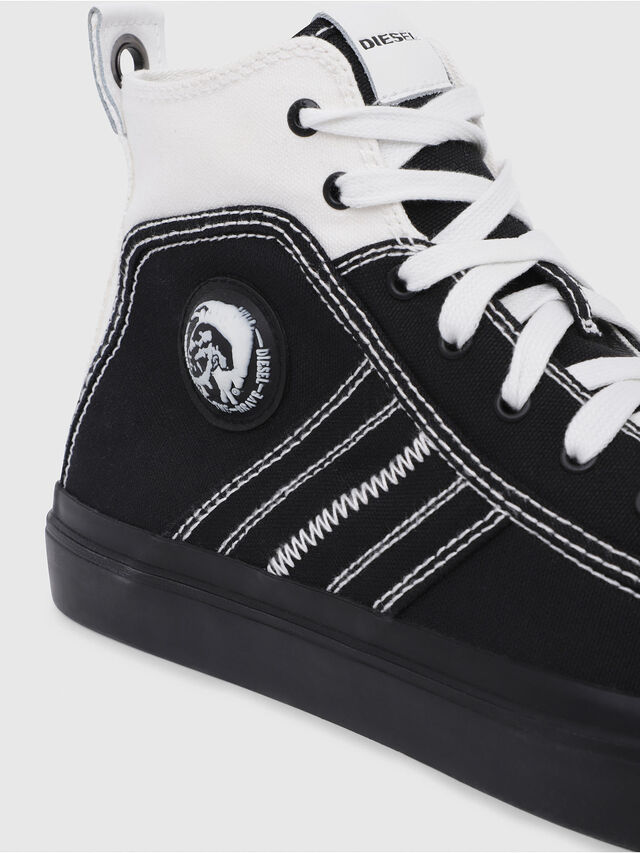 Diesel - S-ASTICO MID LACE, Black/White - Sneakers - Image 5