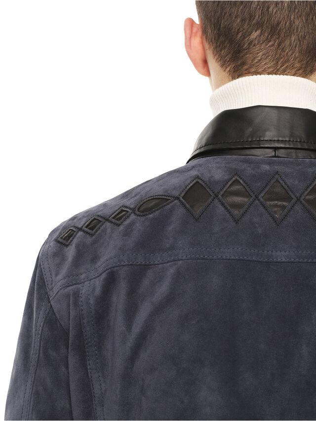 Diesel - LYRICH, Dark Blue - Leather jackets - Image 4