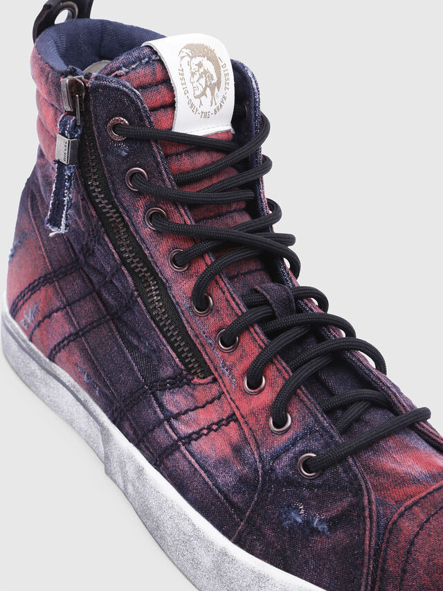 Diesel - D-VELOWS MID LACE, Blue/Red - Sneakers - Image 4