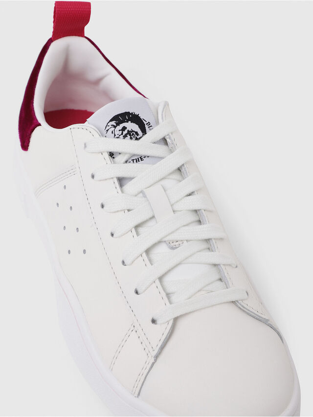 Diesel - S-CLEVER LOW W, White/Red - Sneakers - Image 5