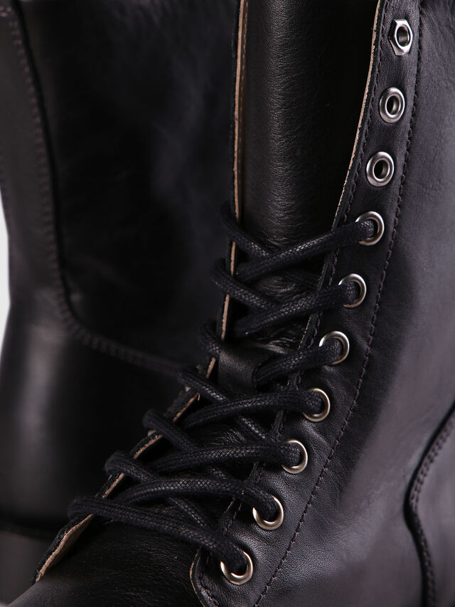 Diesel - D-KOMB BOOT CB, Black Leather - Ankle Boots - Image 4