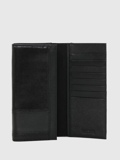 Diesel - 24 A DAY, Black - Continental Wallets - Image 3